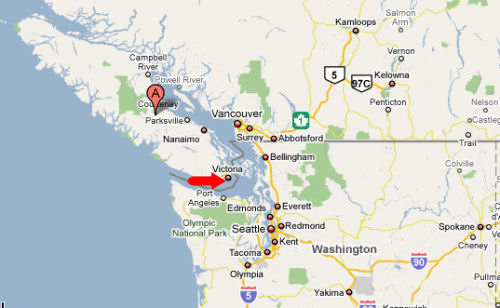 Map Of Victoria Bc Vancouver Island