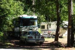 campsite in Malahat Mountain Meadows RV Park