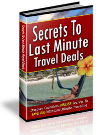 Last Minute Travel eBook Cover