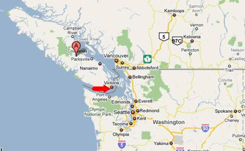Map of Victoria BC | Vancouver Island Map | Victoria BC Information