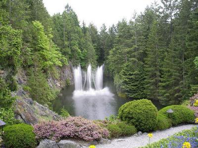 Dancing Waterfalls at Butchart Gardens